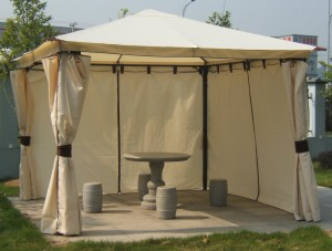 Gartenpavillon Metall - Luxuspavillon Venezia mit Seitenteilen