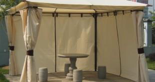 Gartenpavillon Metall – Luxuspavillon Venezia mit Seitenteilen
