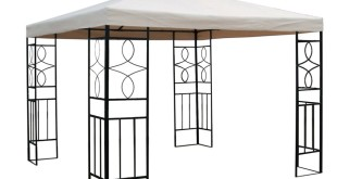 Pavillon 3×3 – WASSERDICHTER Pavillon BEIGE Festzelt ROMANTIKA Metall