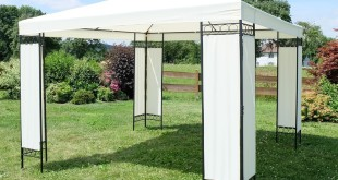 Pavillon 3×3 – Eleganter Gartenpavillon 3×3 m mit wasserdichtem* Dach