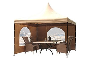 pavillons g nstig kaufen pavillon 4x4 lounge pavillon sahara sand. Black Bedroom Furniture Sets. Home Design Ideas