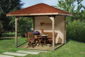 pavillons g nstig kaufen gartenpavillon holz weka paradies spar set. Black Bedroom Furniture Sets. Home Design Ideas