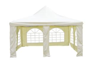 Pavillon 4x4 - L.A. Garden Pavillon Pagode Deluxe, beige