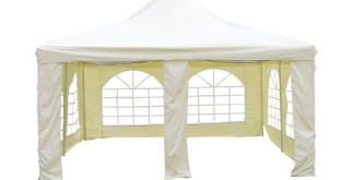 Pavillon 4×4 – L.A. Garden Pavillon Pagode Deluxe, beige