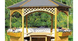 Gartenpavillon Holz – Pavillon Palma mit Bitumenschindeldach
