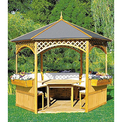 gartenpavillon holz pavillon palma mit. Black Bedroom Furniture Sets. Home Design Ideas