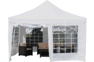 Pavillon 4x4 - Pavillon Partyzelt weiß Festzelt Stahlgestänge
