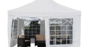 Pavillon 4×4 – Pavillon Partyzelt weiß Festzelt Stahlgestänge